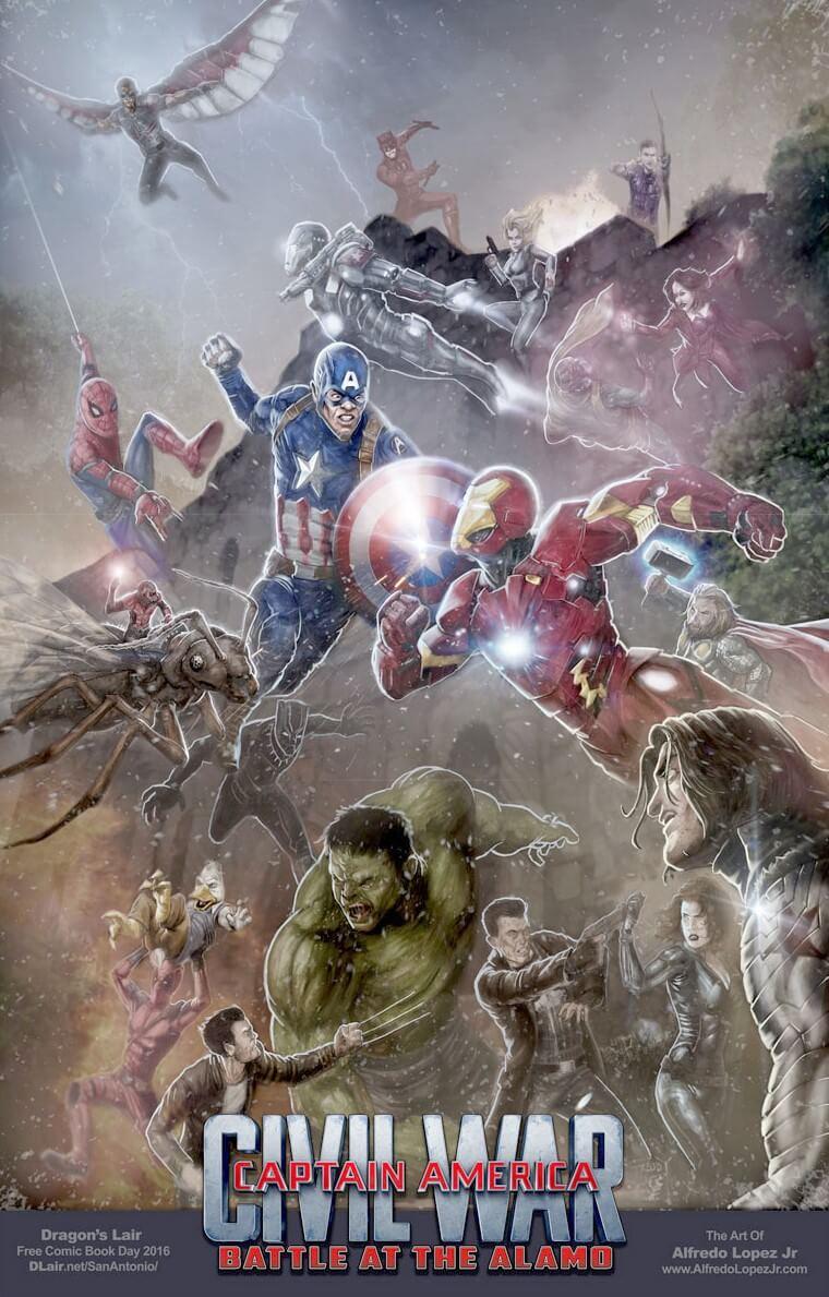 Marvel-Civil War: FCBD Poster